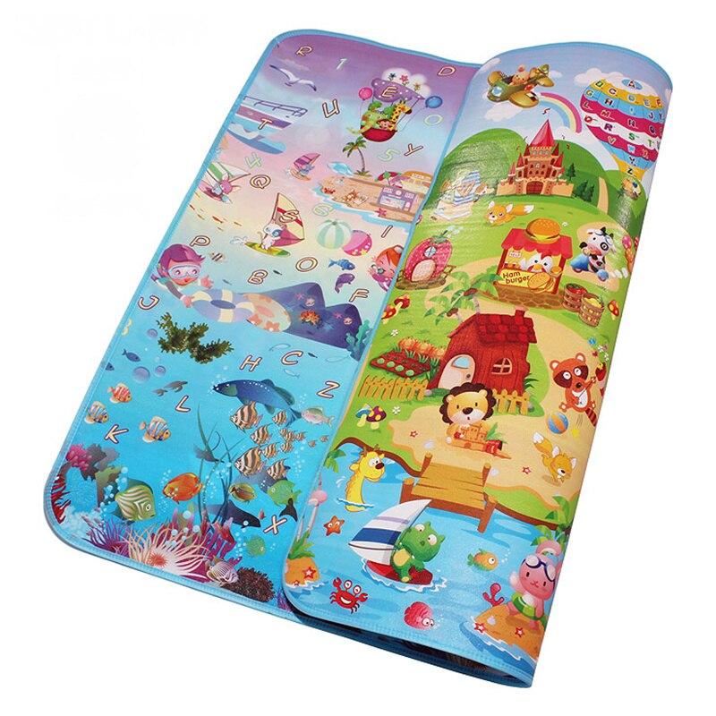 Mundo Do Mar Happy Farm dupla Face Tapetes de Jogo Do Bebê Infantil Rastejando Tapetes de Jogo Criança Ginásio Tapetes Crianças Piquenique 5mm espessura