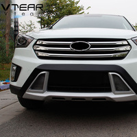 For Hyundai Creta Ix25 Racing Grille Cover Decoration Stainless Steel Car Chrome Styling Front Grille Products