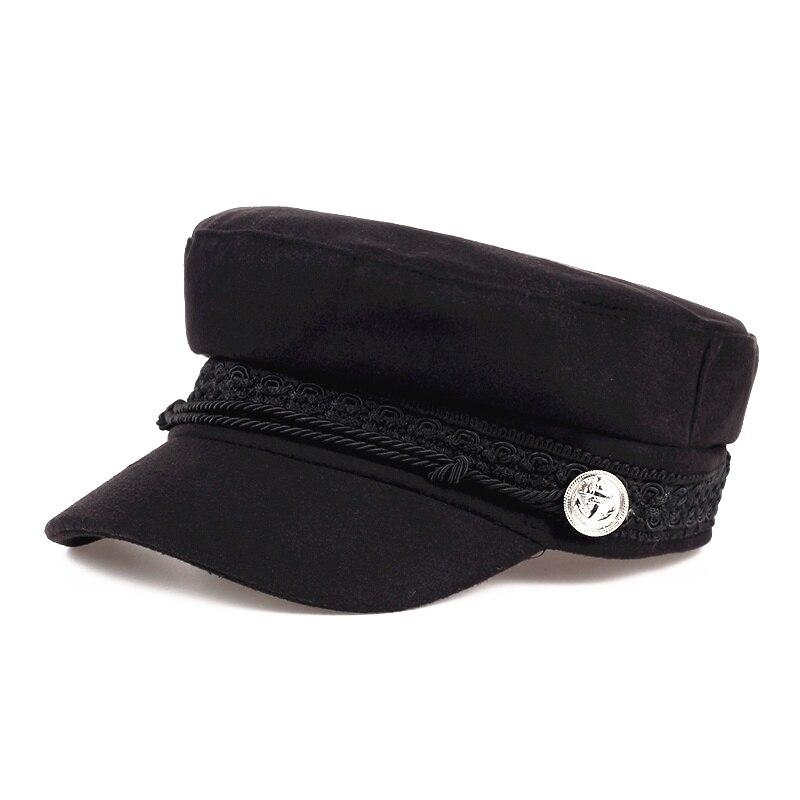 VORON Chapéus de Inverno Para Mulheres Homens Cap Octogonal Botão Lã Bonés  de Beisebol Pala de 0a0dcf02953