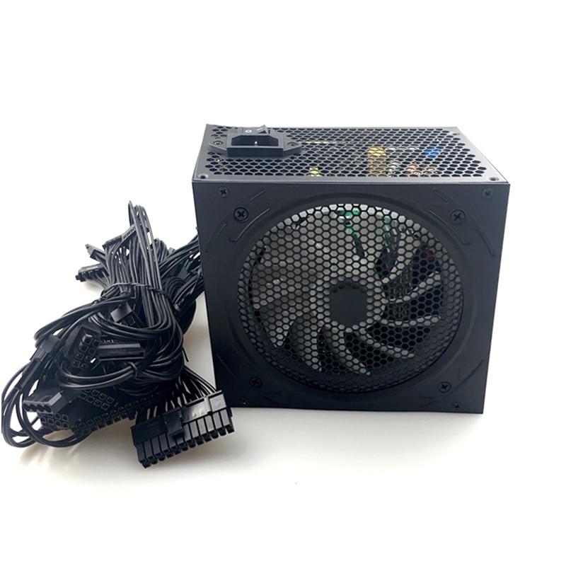 700W PC PSU Power Supply Black Gaming Quiet 120mm Fan 24pin 12V ATX 24pin New computer