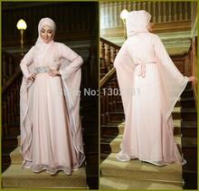 Muslim Fashion Long Sleeve Maxi Islamic Clothing For Women Prom Dress With Hijab Arabic Evening Dress Abaya In Dubai Kaftan