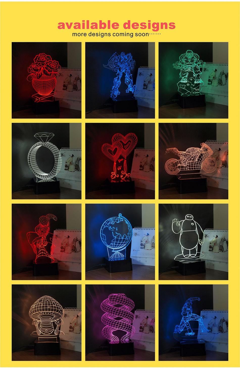 CNHIDEE Lampada Decorativa USB Desk 3D Night Lamp Bluetooth Music Led Table Lamp as Creative Gifts for Cartoon Popeye Fans (12)