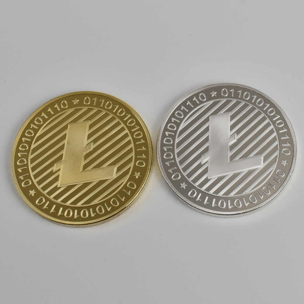 Mạ vàng Bitcoin Bit đồng xu Gợn Sóng Litecoin Ethereum Bộ Sưu Tập Tặng 40mm Cryptocurrency Đồng Tiền Kim Loại Kỷ Niệm Đồng Xu
