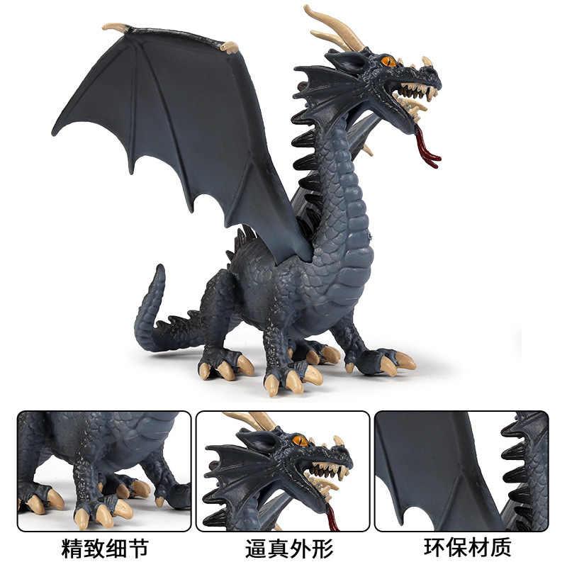 Ocidental Azul Dragão monstro animal Estática modelo Fogo mal-respiração Dragons figma Anime Figura Dragão Mágico
