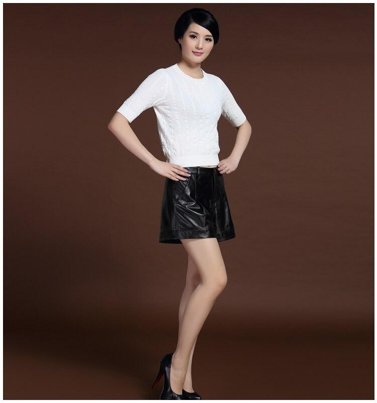 En gros 2018 printemps coréen mode courte de haute qualité en cuir de mouton Shorts bas Wrap hanche Mini jupe femmes livraison gratuite