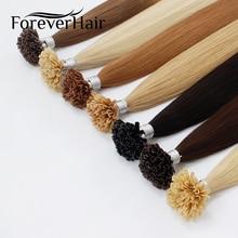 """VÄRSKE HAIR 0,8g / s 16 """"18"""" 20 """"Remy U Tip Keratiin juuste pikendamine sirge eeltäidetud juukse kapslitega kuuma fusiooni juuksed 50s / pac"""