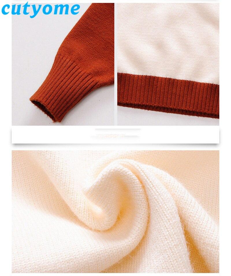 teenage girls patchwork sweater08