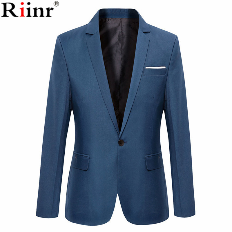 Riinr New Arrival Brand Clothing Autumn Suit Blazer Men Fashion Slim Male Suits Casual S ...