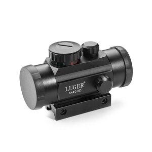 Image 3 - LUGER 1x40 Rot Grün Dot Sight Zielfernrohr 11mm und 20mm Schiene Jagd Optik Holographic Red dot Anblick Tactical Scope Für Pistole