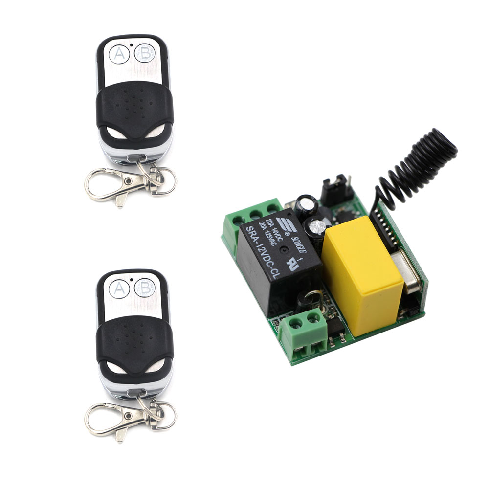 AC 220V 1CH Relay Wireless Remote Control Switch Remote Control ON OFF Teleswitch For LED Lamp Light Curtain Door Gate 315/433 220v 1ch wireless switch for light lamp led smd on off wireless remote control receiver
