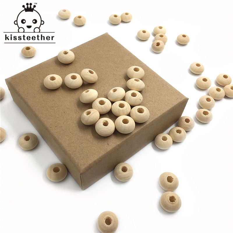12mm(0.47)Teether Beads Natural Lentil Beads Eco-friendly Baby Teether/Clips Teething Accessories DIY Making Handmade Jewelry