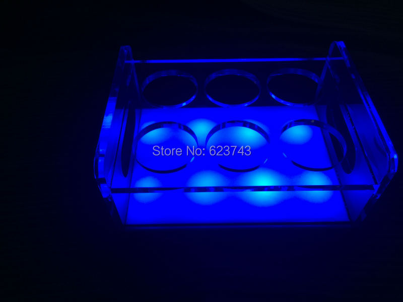 rechargeable multicolor Plastic  led shot glass holder (20)