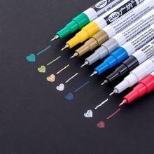1 шт. металлический маркер, 8 цветов на выбор, 0,7 мм, очень тонкий маркер для рисования, нетоксичный Перманентный маркер, маркер для творчества