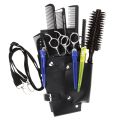 Pro Barber Hairdressing Black Leather Rivet Clips Scissors Comb tools Holster Storage Pouch Holder Case Bag Hair Styling Toolkit