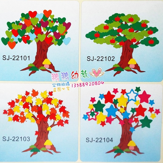Three Dimensional Wall Stickers Childrens Room Decor Kindergarten Classroom Decoration EVA Sponge Paper Tree