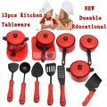 13Pcs/set Kitchen Food Cooking Role Play Pretend Cookware Toy Girls Boys Baby Children Kid Pretend kitchen Toys