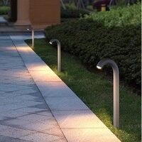 Простой открытый сад газона свет IP65 водонепроницаемый изогнутые свет вилла огни Черный ландшафтный парк лампы Алюминий