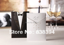HOT western style clothes Wedding Invitations Cards With Customize Printing with Rhinestone Set of 50 Wholesale