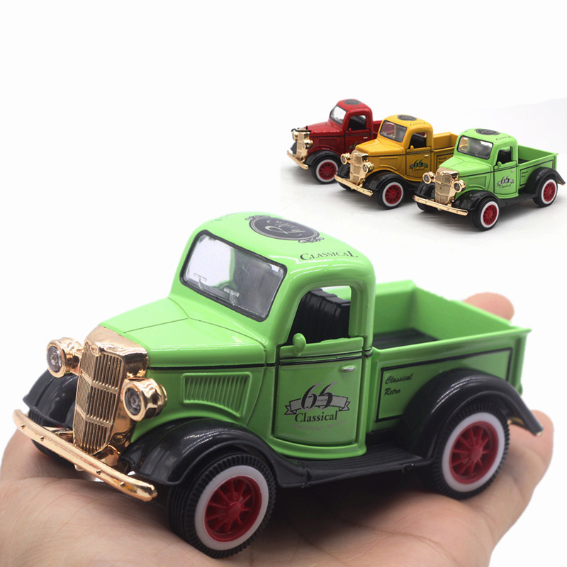toy car 1:36 diecast model car toys for children boys mini die cast 1/32 alloy car pull back green yellow red miniature toy kids