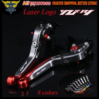 With Logo YZF R1 Red Titanium CNC New Adjustable Motorcycle Brake Clutch Levers For Yamaha YZF