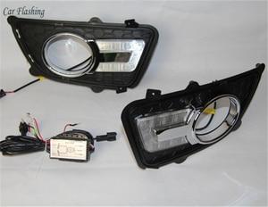Image 2 - Car Flashing 1 set For KIA Sportage 2008 2009 2010 2011 2012 2013 12V LED DRL Daytime Running Light Daylight Fog lamp head light