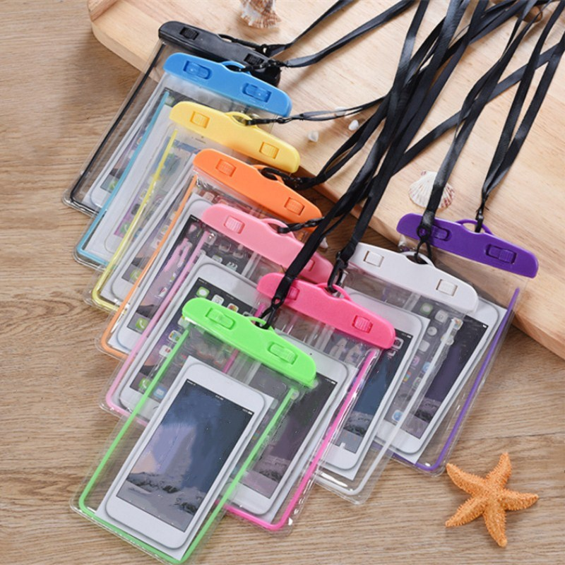 Universal Waterproof Florescent Case For Phone Swimming Phone Bag Underwater Pouch Phone Case For All Models 3.5 Inch -6 Inch