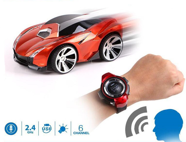 acb6e7af70b 6CH Smart Watch remote control Voice control vehicles RC car toy Watch  comes with voice features toys child kids birthday gift