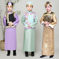 Boy's Ancient Dramaturgic Robe Chinese Traditional Emperor Prince Children Theatrical Play Robe Photo Dress Cosplay 091701