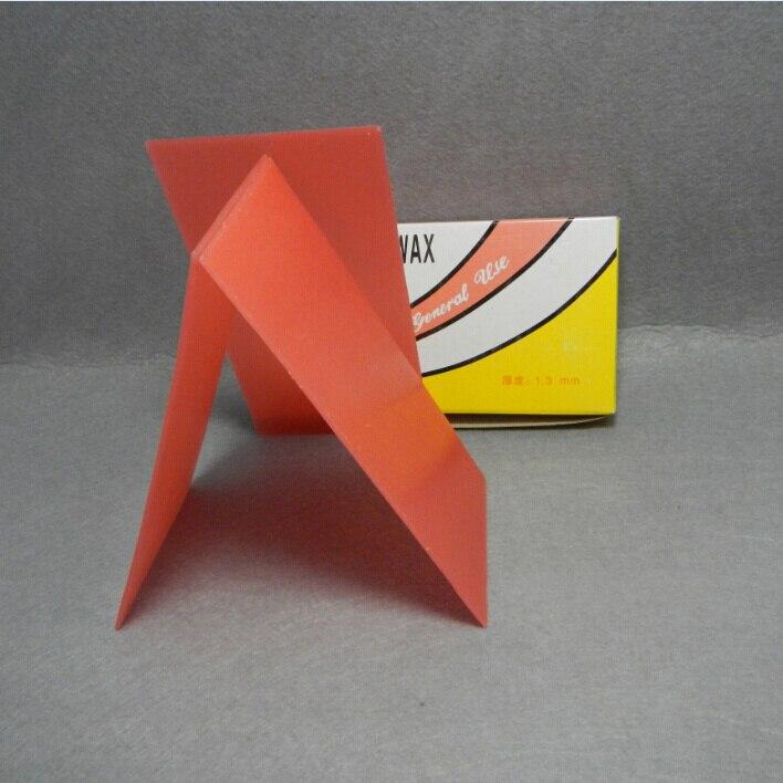 Origami Blaetter , 1 Box 500g 2mm Dental Red Wax Sheet Dental Materials For Denture