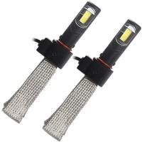 Conversion Kit H4 36W Each Bulb Super Bright LED Headlight 4000LM Car Styling 6000K Aluminum Alloy