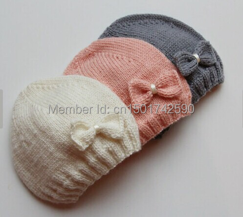 newborn Hand knitted baby hat for photograph props 5 pcs lot-in Hats ... 99afd2ede8b