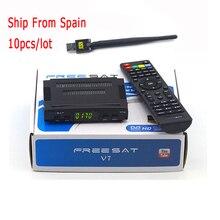 Lo nuevo V7 Freesat HD TV Vía Satélite Receptor DVB-S2 1080 P Soporte Cccam/Newcam YouTube Youporn con USB Wifi HD Satelliter Digital