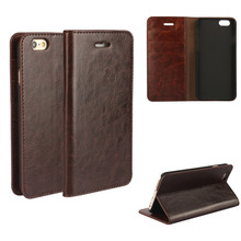 Coque For iphone 6 6s Genuine Real Flip Leather Case Protective Cover Fundas Brown Black Capa ipone 6 Cases Etui Accessory Bags kalaideng england series protective pu leather case for iphone 6 reddish brown