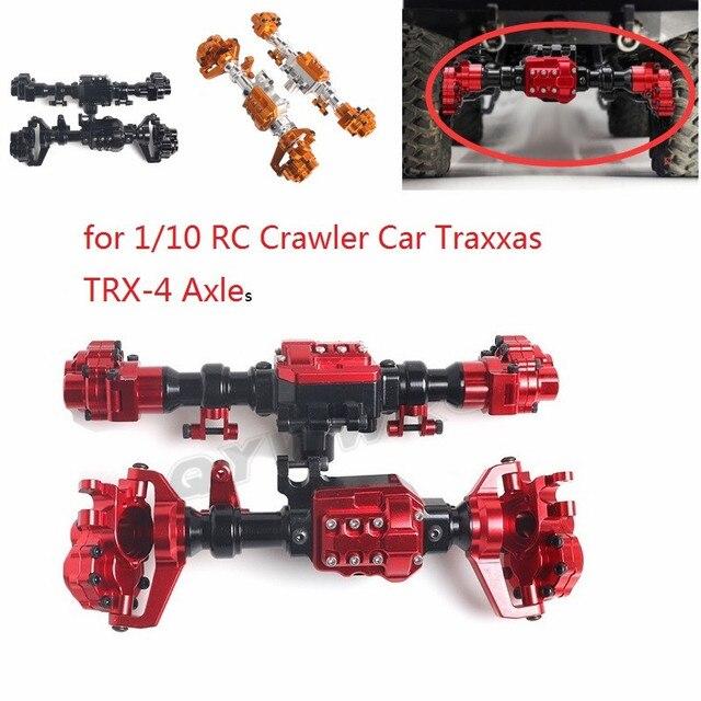 QYWWRC TRX4 алюминиевый корпус передней и задней портальной оси для 1/10 RC Crawler Car Traxxas TRX 4, детали для обновления оси