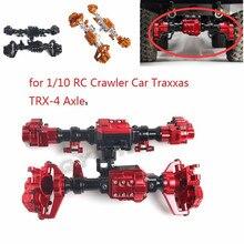 Qywwrc trx4 alumínio dianteiro e traseiro portal do eixo habitação para 1/10 rc rastreador carro traxxas TRX 4 eixos atualizar peças