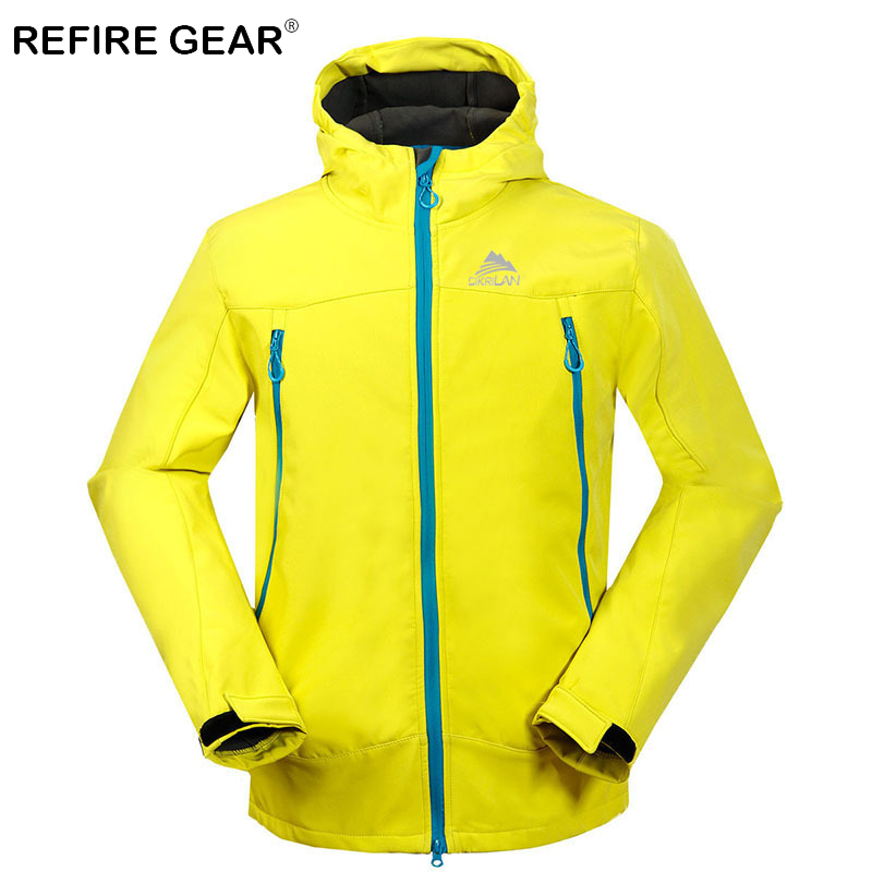 ReFire Gear Winter Hoodies Thermal Windproof Camping Jackets Men Waterproof Hiking Cimbing Windbreaker Jackets Male Sport Jacket