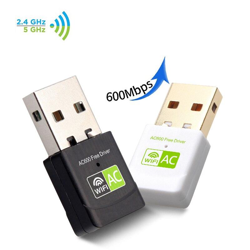 USB Wifi מתאם USB Ethernet רשת כרטיס 600 Mbps 5 Ghz USB Wi-Fi מתאם PC  Antena WiFi מקלט AC WiFi Dongle Wi Fi מתאם (BEST PRICE