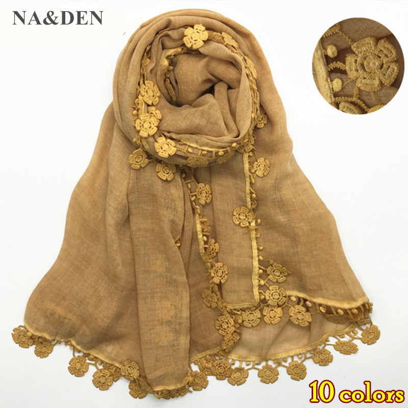 women embroider flowers four size scarf dirty effect style scarves and shawls solid muslim shawl soft
