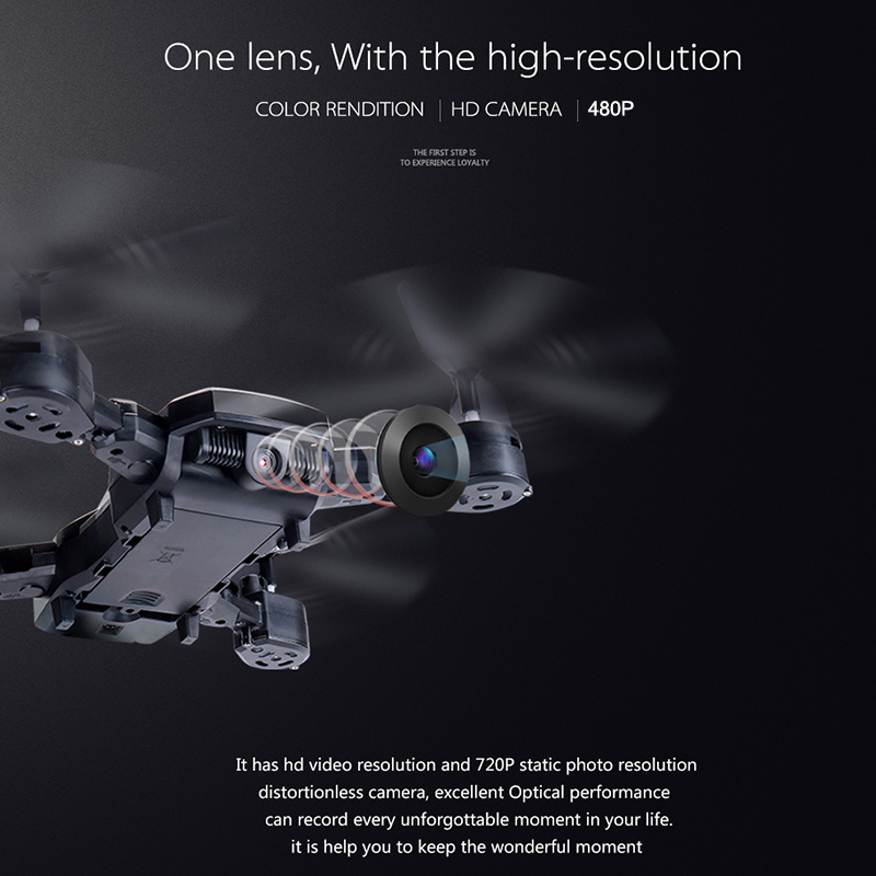 2.4Ghz Uav Hover LED One Key Return Toys HD CAMERA Altitude Hold Speed Adjustable Headless Mode 480P Drone Gift Cameras Drone
