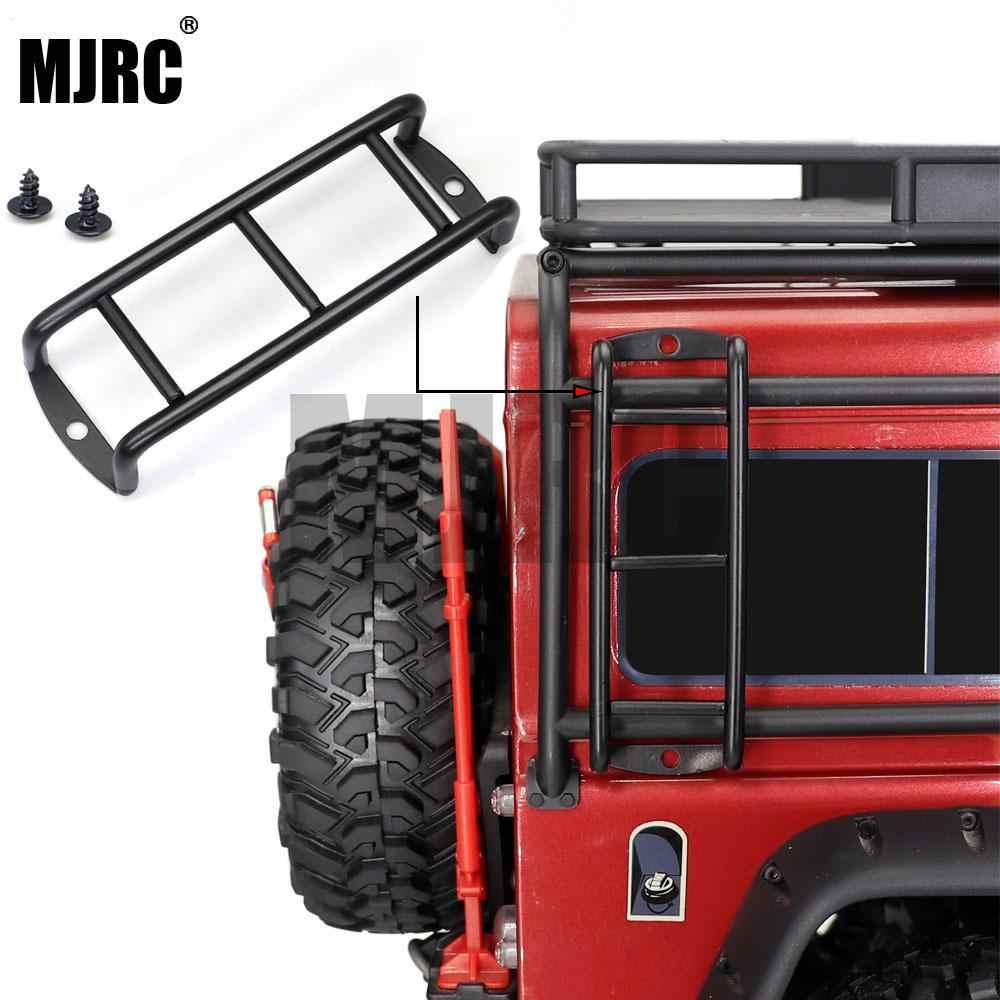 MJRC 1PCS ตรง/โค้งโลหะสีดำบันไดบันไดสำหรับ 1:10 RC ROCK Crawler Traxxas TRX4 Axial SCX10 90046 RC4WD D90