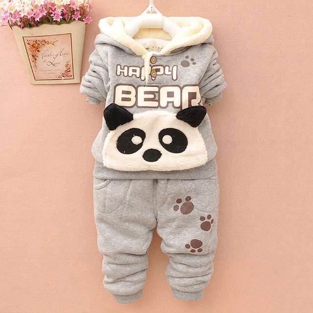 e9698fe965a2 NEW Baby Set Winter Spring Baby Girl Cartoon Coat Thick Warm Panda ...