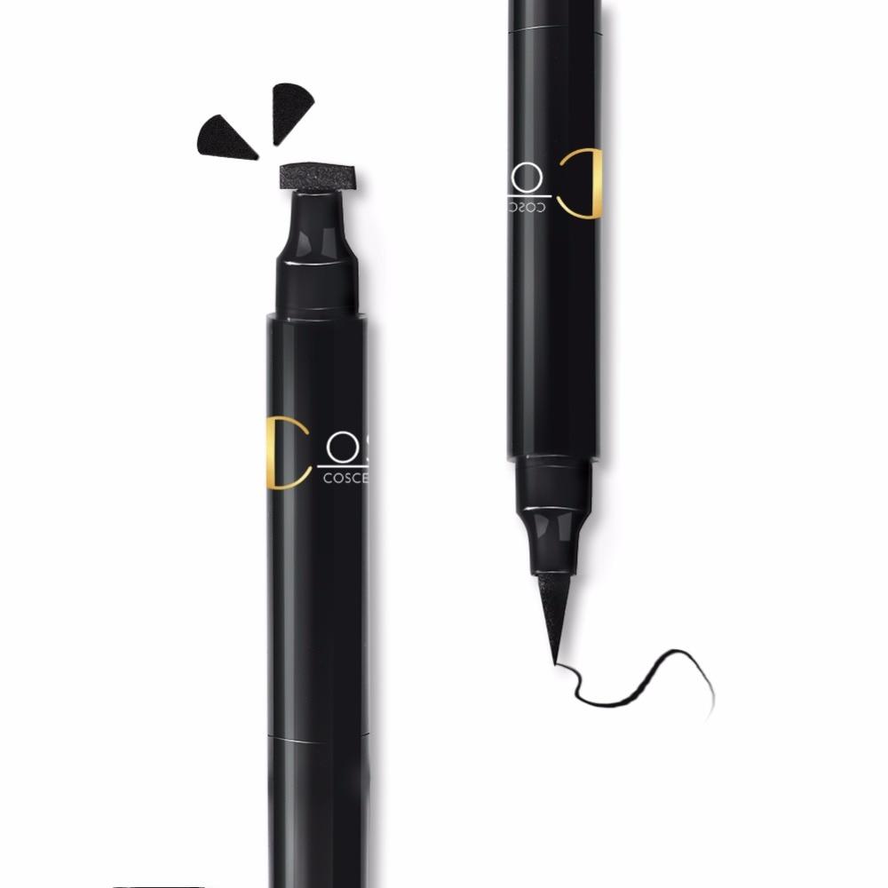COSCELIA 1 Pc Double-Headed Seal Black Eyeliner 5