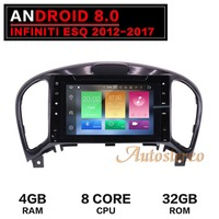 Newest Android 8.0 Octa Core Car DVD Player for Nissan Juke for Infiniti ESQ 2012 2017 Car GPS Navigation Stereo multimedia