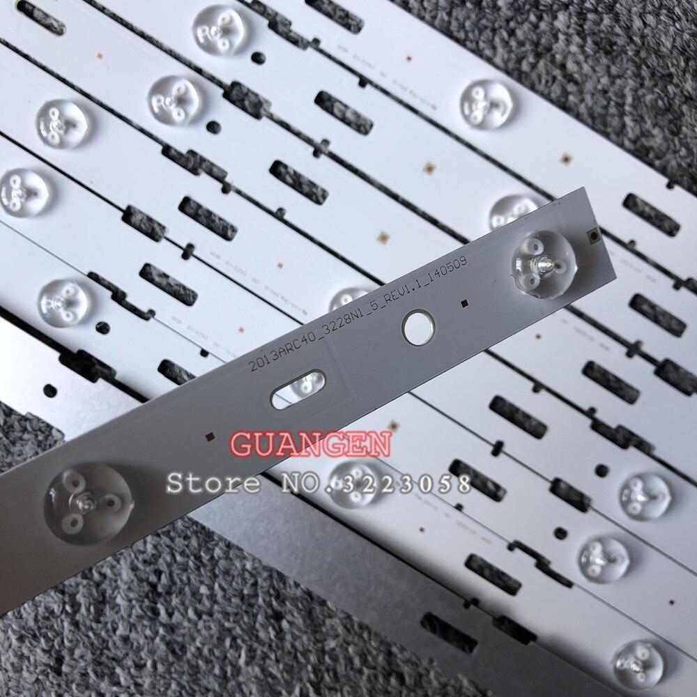 5set=40pieces 5LED 428mm LED Backlight strip for TV 40VLE6520BL SAMSUNG_2013ARC40_3228N1 40-LB-M520 40VLE4421BF