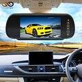 Atacado Com Preço Baixo 10 pcs 1 Lote 7 polegada TFT a Cores Tela de LCD espelho Retrovisor Do Carro Monitor de Câmera De Segurança Com 2 Entrada de Vídeo