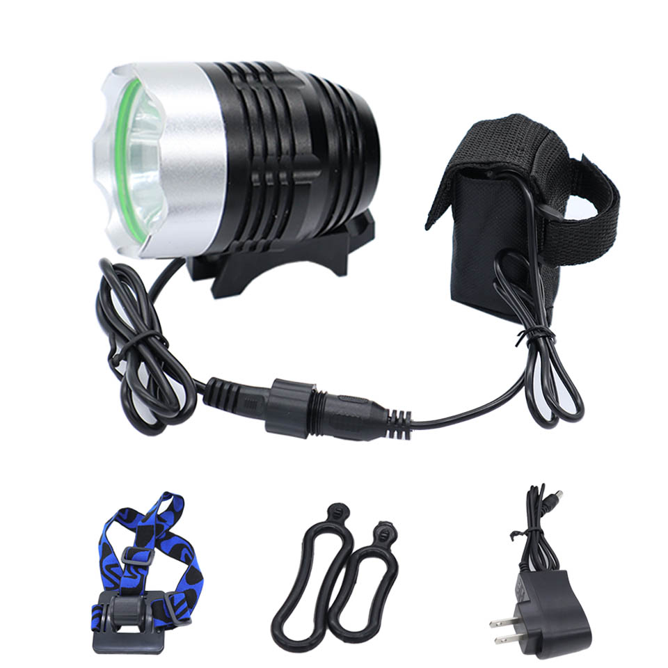 Projecteur 1200lm XML T6 LED Phare lampe de Poche Lampe 6400 mah batterie vélo lumière Vélo lanterna