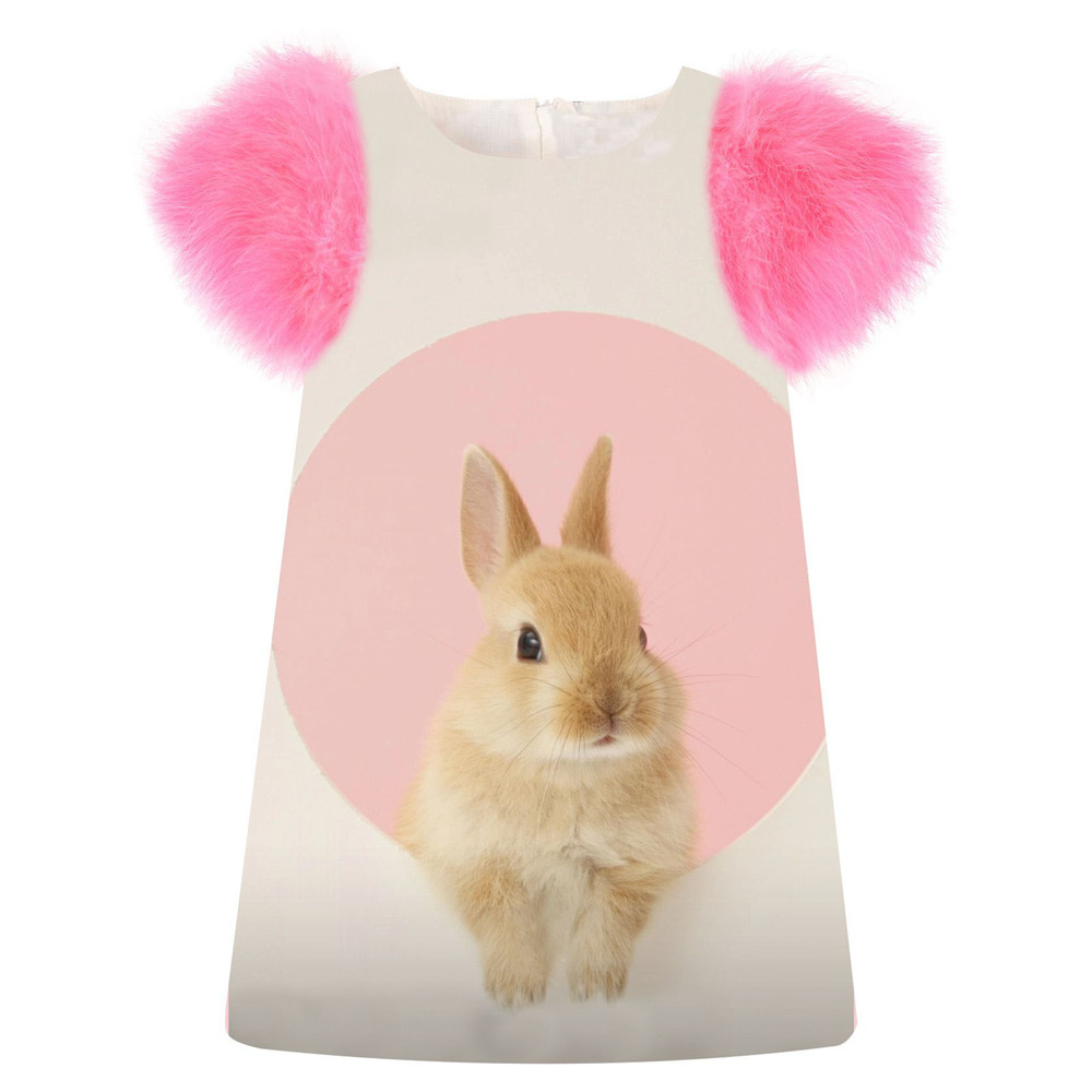 2018 nette Mädchen Kleid Die kaninchen druck mode geburtstagsparty ...