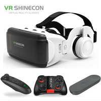 Оригинальный VR Realidad Virtual 3D caja de gafas estéreo VR Google cartón casco para IOS Android смартфон, Bluetooth Rocker