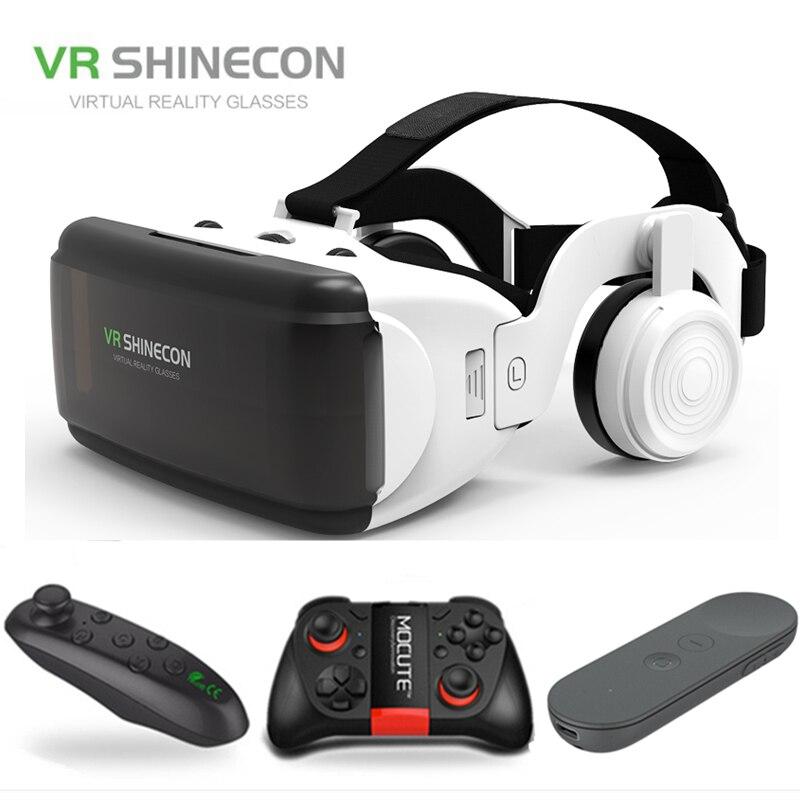 Original VR Realidad Virtual 3D caja de gafas estéreo VR Google cartón casco para IOS Android Smartphone, Bluetooth Rocker