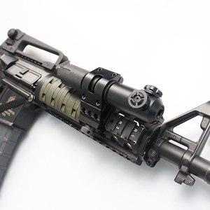 Alcance de puntero láser de punto rojo táctico de larga distancia IPX8 impermeable y a prueba de golpes para Rifles con montaje en riel Picatinny